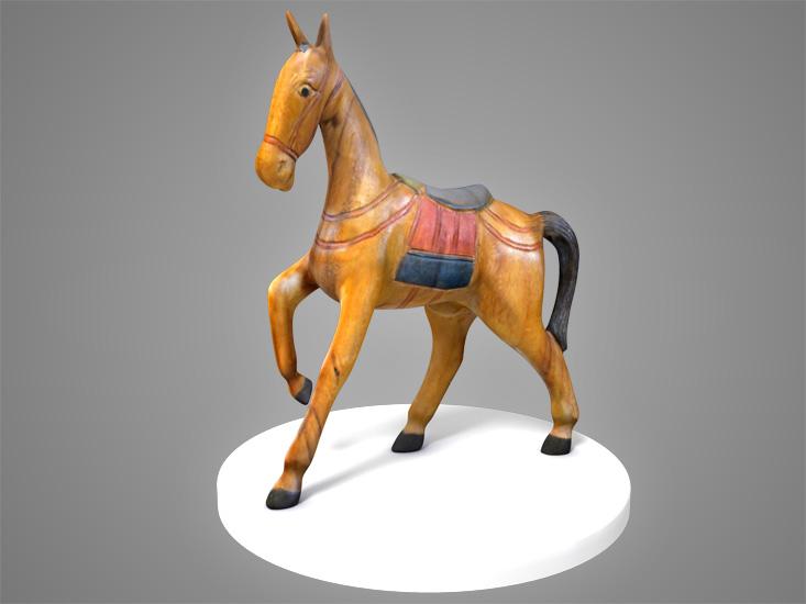 charles balbont  cheval de bois 3d