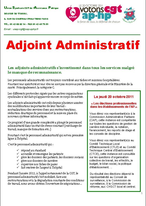 Salaire adjoint administratif - Grille adjoint technique principal 1ere classe ...