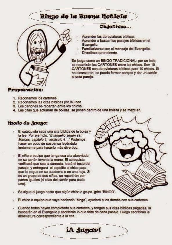 Educar con Jess Bingo citas evanglicas elrincondelasmelli