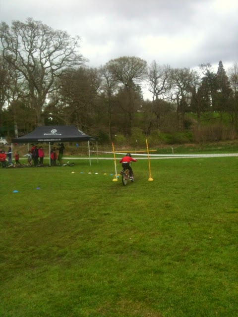 Cycle training at Brockhole bike limbo