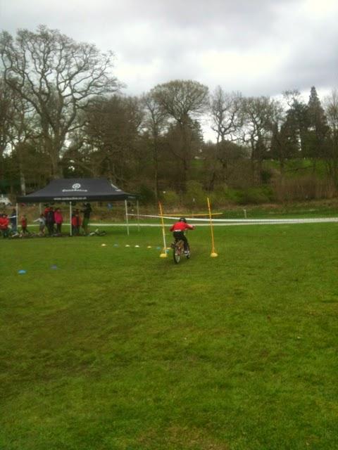 Cycle training at Brockhole bike limbo