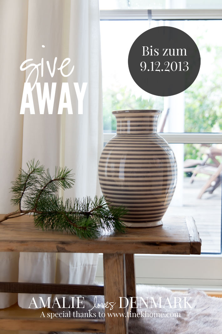 Amalie loves Denmark GIVE AWAY TINE K HOME VASE