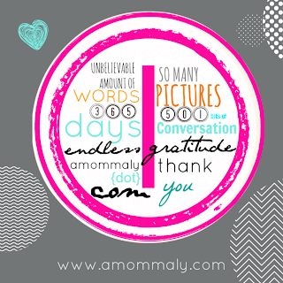 Belatedly blown {one year of blogging!} via amommaly.com