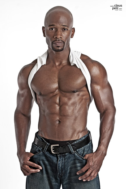 black guy with abs