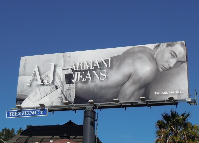 Rafael Nadal Armani Jeans billboard