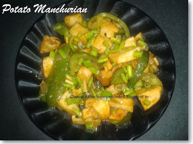 Potato Manchurian