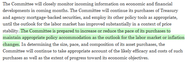 Excerpt of Changes in FOMC Statement from 19 March 2013 to 30 April 2013