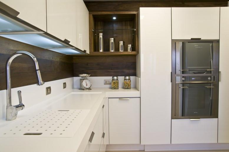 Bancadas de cozinhas modernas com tábuas, escorredor, cuba dupla  veja ideia # Bancada De Cozinha Com Cuba Dupla