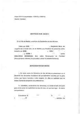 Sentencia sobre horas extras en el juzgado de lo social n for Juzgado seguridad social