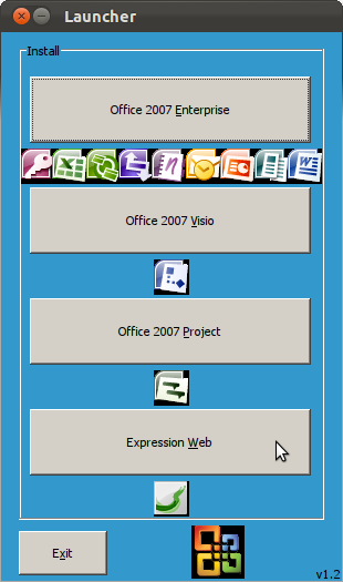 Select Office 2007 Enterprise. Enter your Microsoft Product Key in next.
