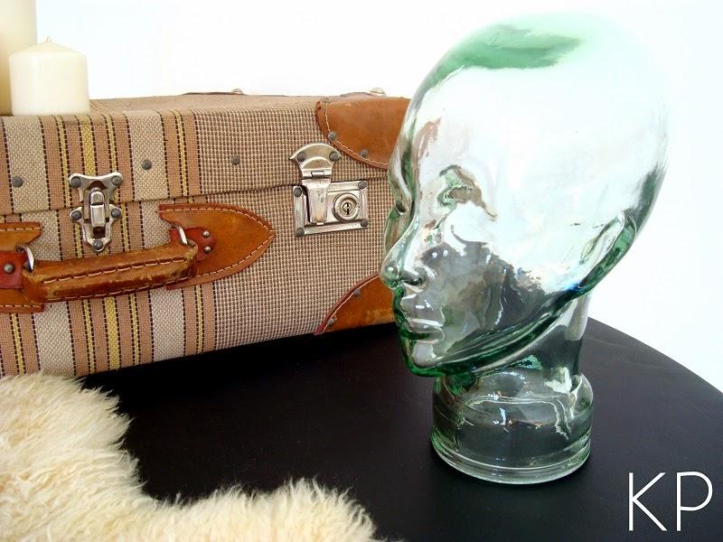 Cabezas de cristal antiguas para decoración