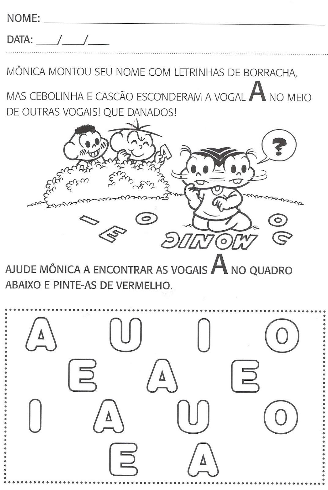 Extremamente Atividades de português para segundo período, educação infantil  AY93