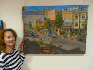 exhibition of plein air oil paintings of Sydney by industrial artist Jane Bennett