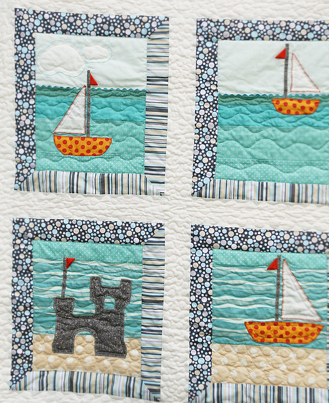 Quilt Story: Easy Sailing, fun nautical pattern...