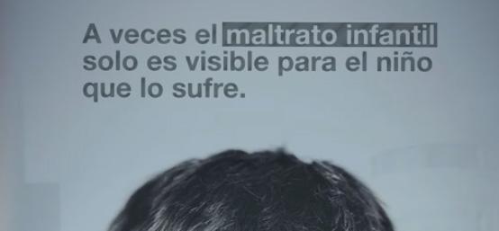 Mensaje de imagen: A veces el maltrato infantil es solo visible par el niño que lo sufre