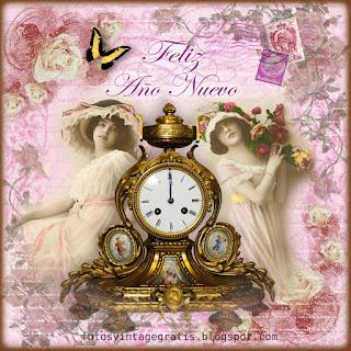damas vintage con reloj antiguo