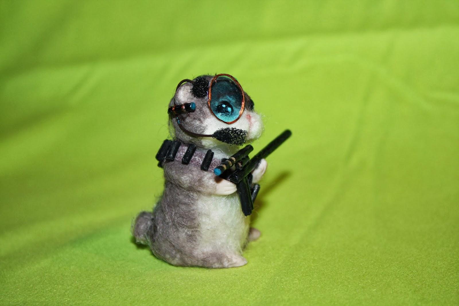 ooak criceto hámster mouse topolino topo polimery clay miniature animal handmade
