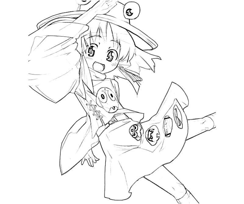 printable-suwako-moriya-jump-coloring-pages