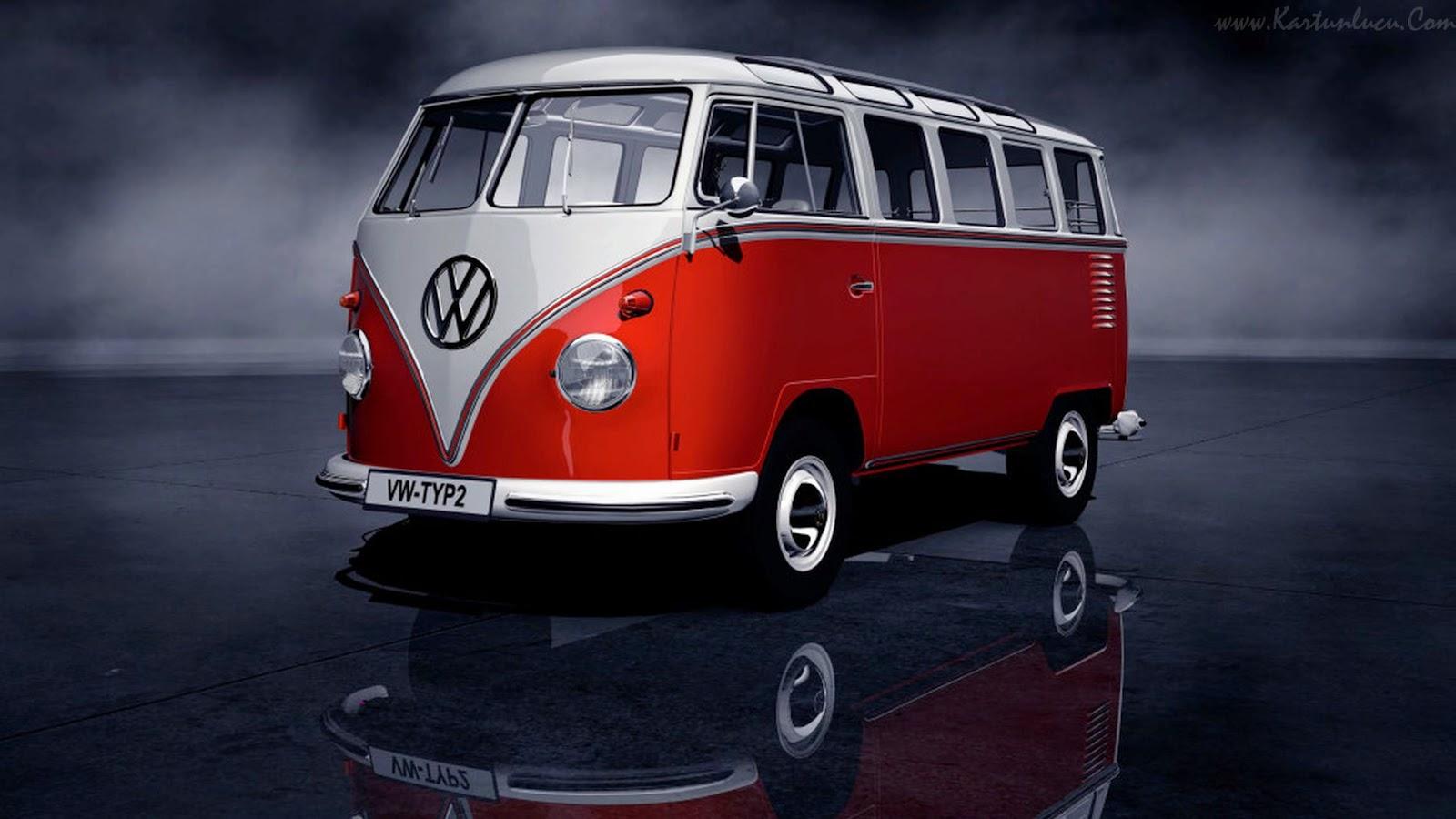 Green vw volkswagen combi van bus wallpaper for Interieur combi vw