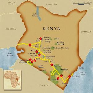 Mapa Kenya Thijs e Fábia 2014