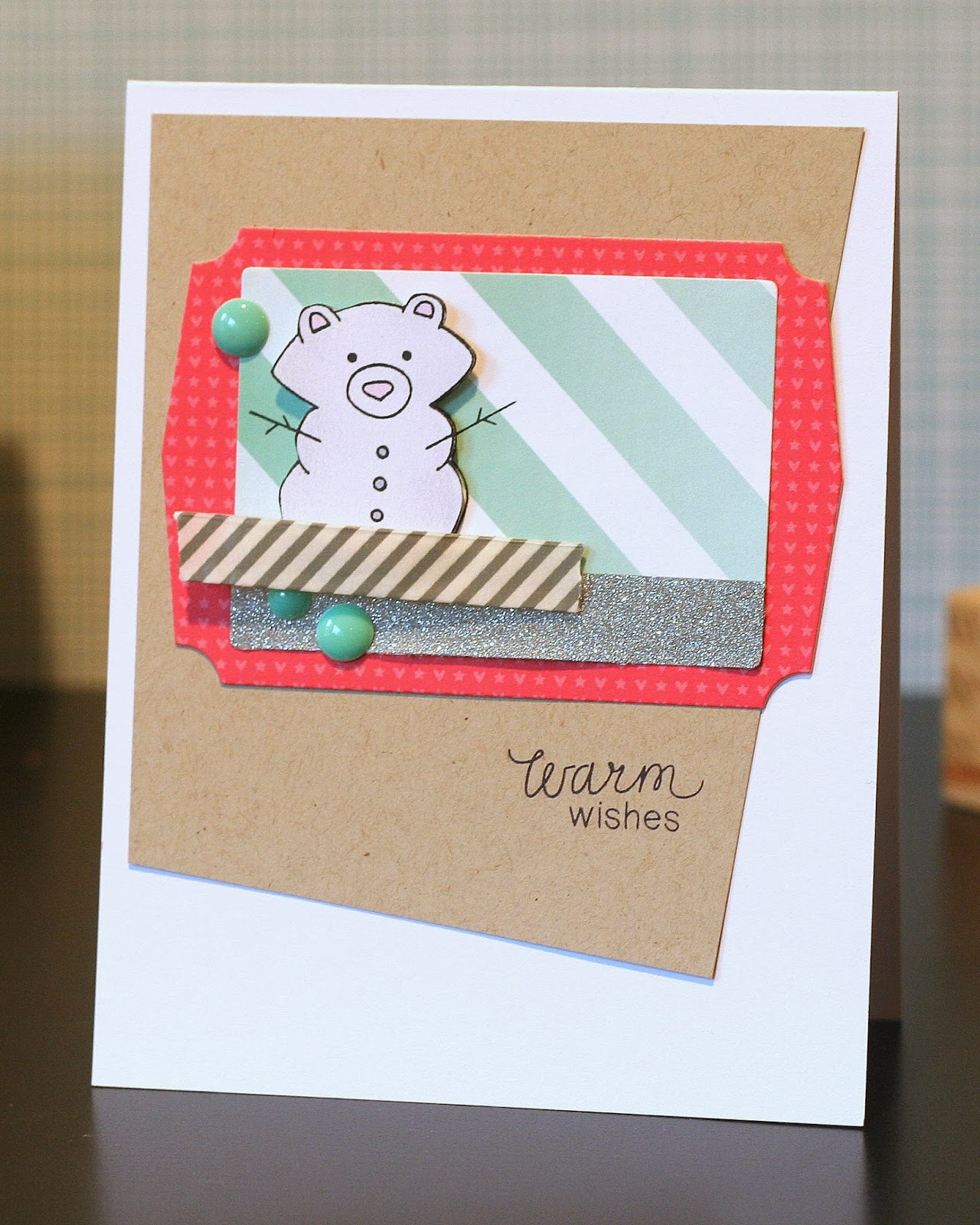 Snow Bear card by Ashley Marcu for Newton's Nook Designs
