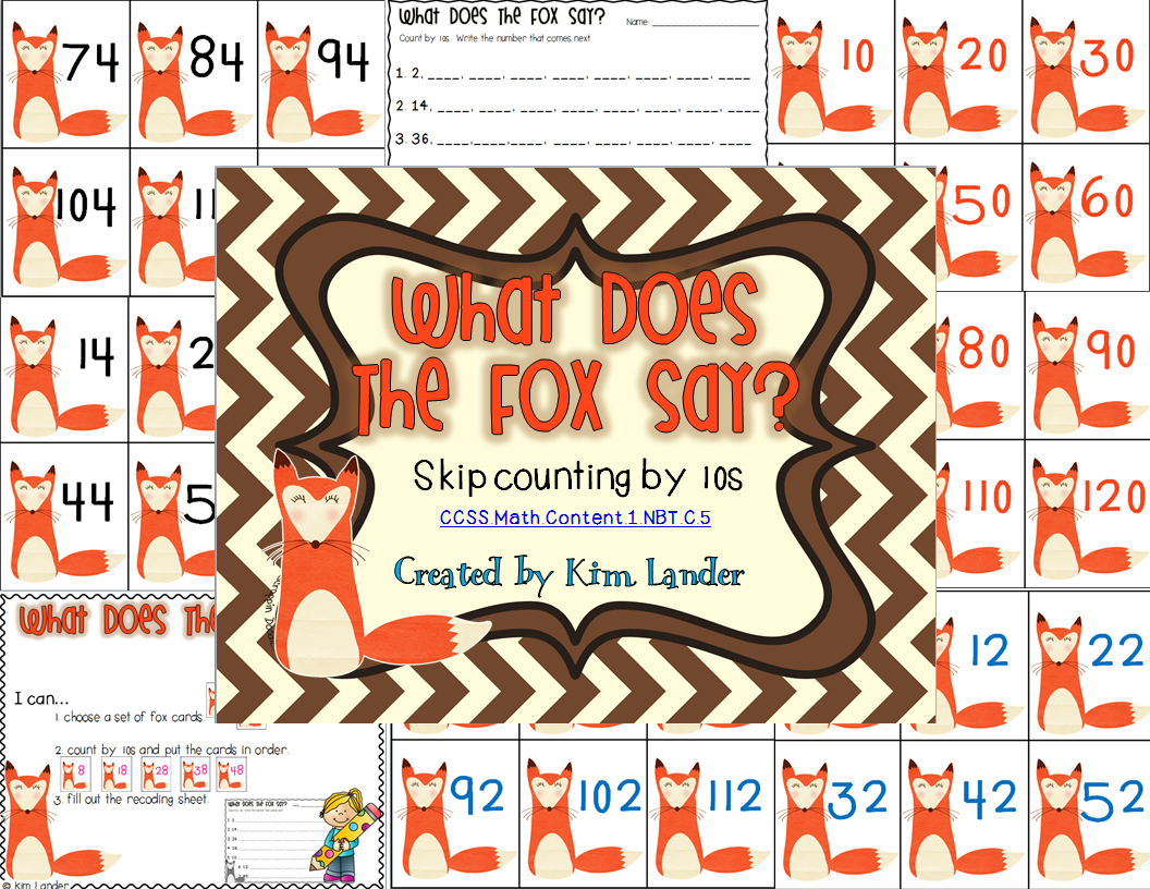 http://www.teacherspayteachers.com/Product/What-Does-the-Fox-Say-Common-Core-Aligned-1182617