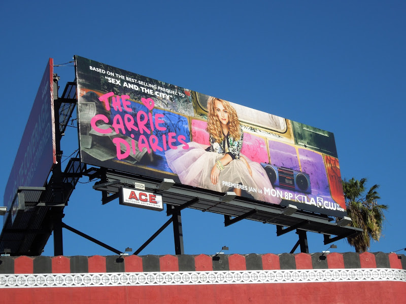 Carrie Diaries season 1 CW billboard