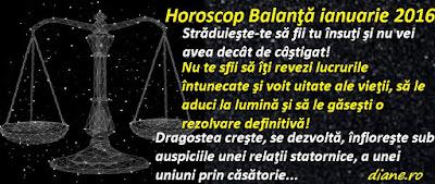 Horoscop Balanţă ianuarie 2016