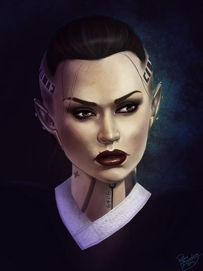 Mass Effect Fan Art Jack by ruthiee