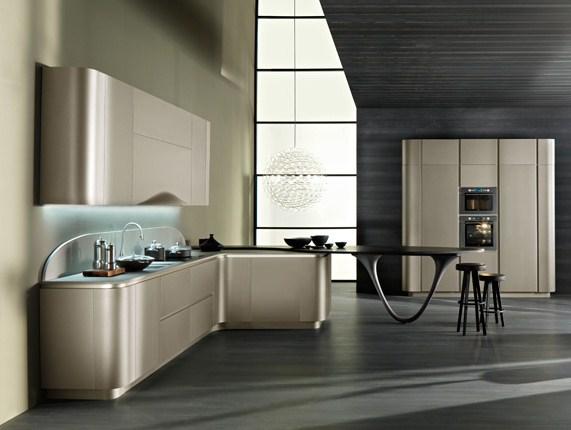 Diseño de Cocinas : Cocina con Curvas - photo#20