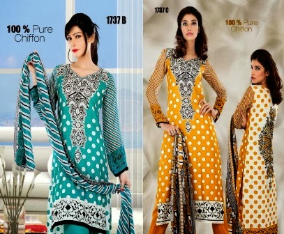Zam Zam Chiffon Lawn Collection 2014