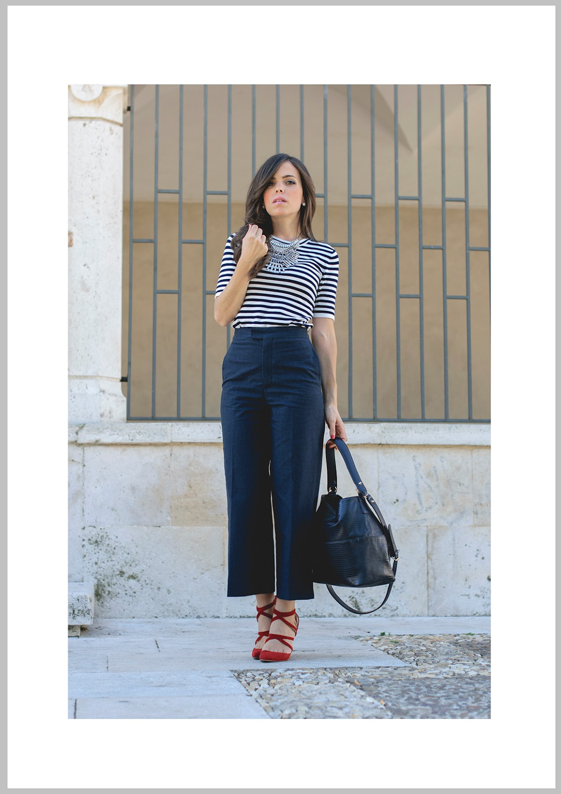 Look con culottes denim de Zara