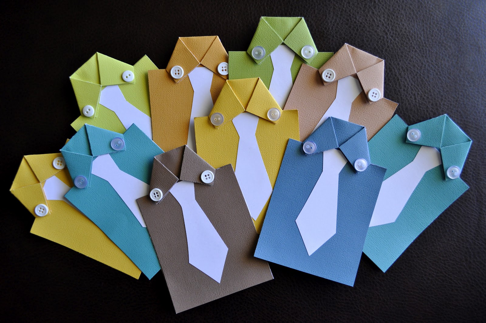 Shirt design card - I Left The Ties White On Purpose Because I Decided It Would Be Fun To Let The Kids Use Crayons To Design The Tie On The Front Of The Card For Their