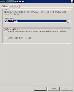 IPS RADIUS client vendor type