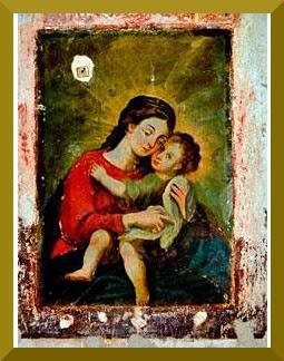 Virgen María con el niño. Museo Nacional del Virreinato, Tepotzotlán