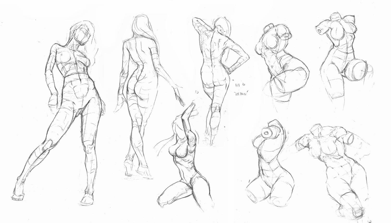 Javier Olazábal Dibujos: Viejos estudios de anatomía femenina