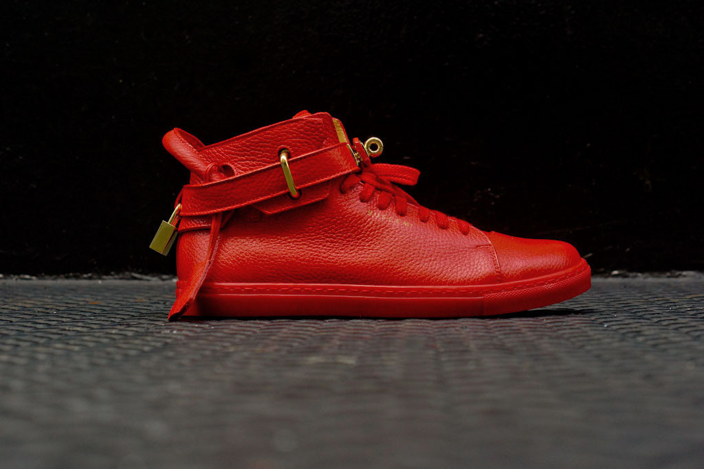 Buscemi Shoes Gold Buscemi 100mm Shoe Premium