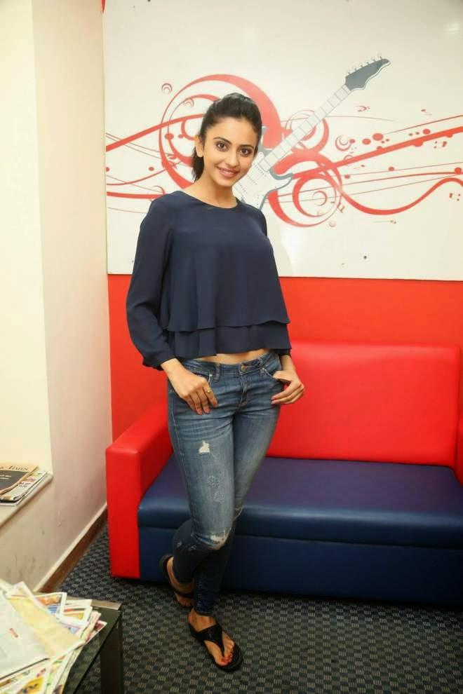 Rakul Preet Singh Short Top Denim Jeans Photos