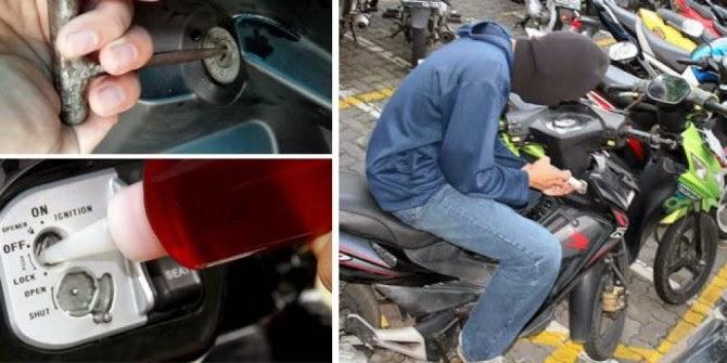 Tips Jitu Hindarkan Motor Dari Pencurian