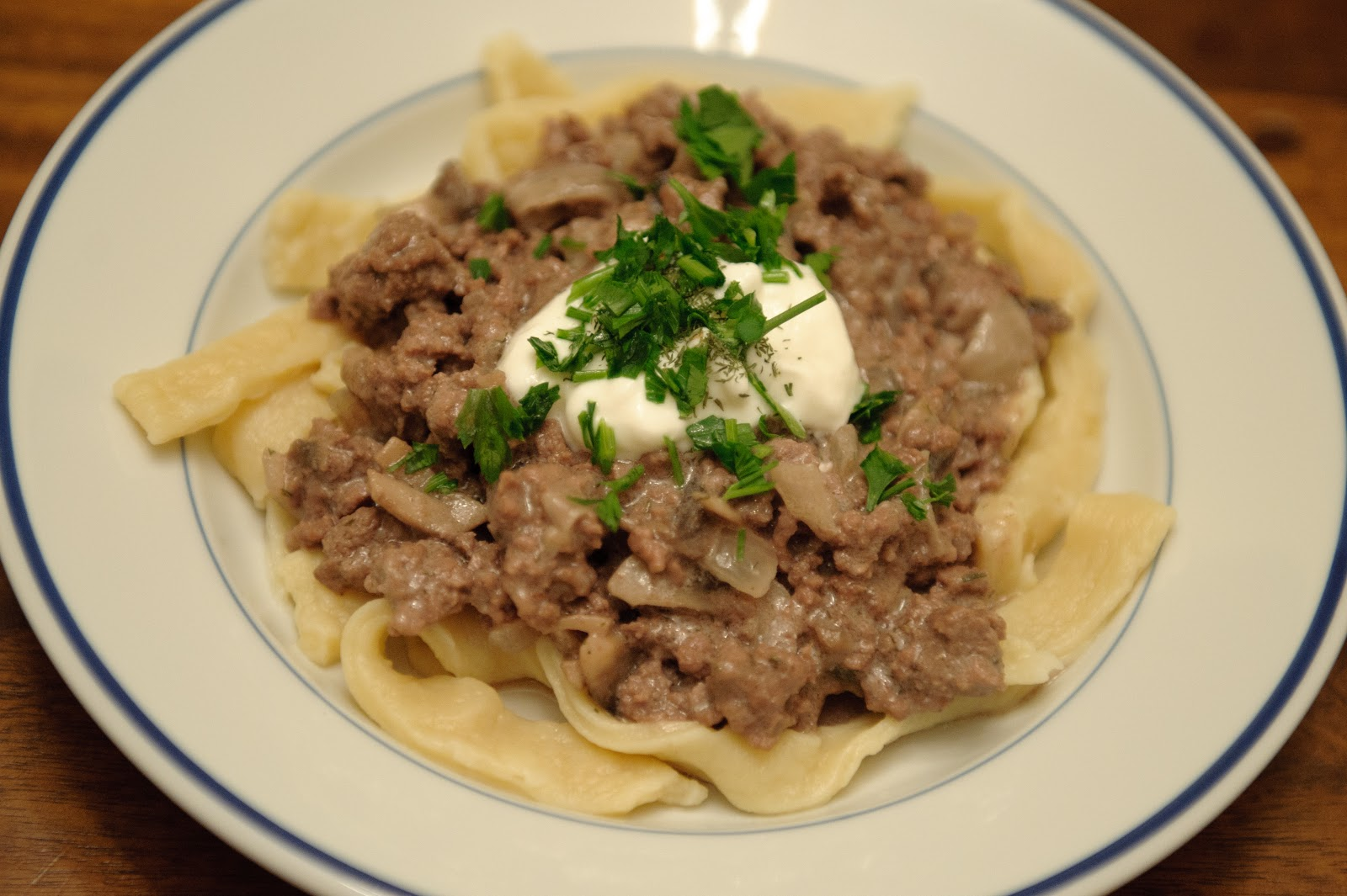 Beef Stroganoff With Butter Noodles Recipe — Dishmaps