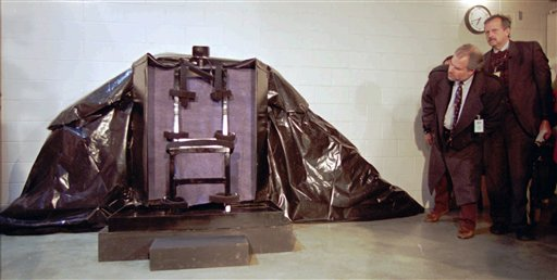 Firing squad 'armchair' used for the 2010 execution of Ronnie Lee Gardner
