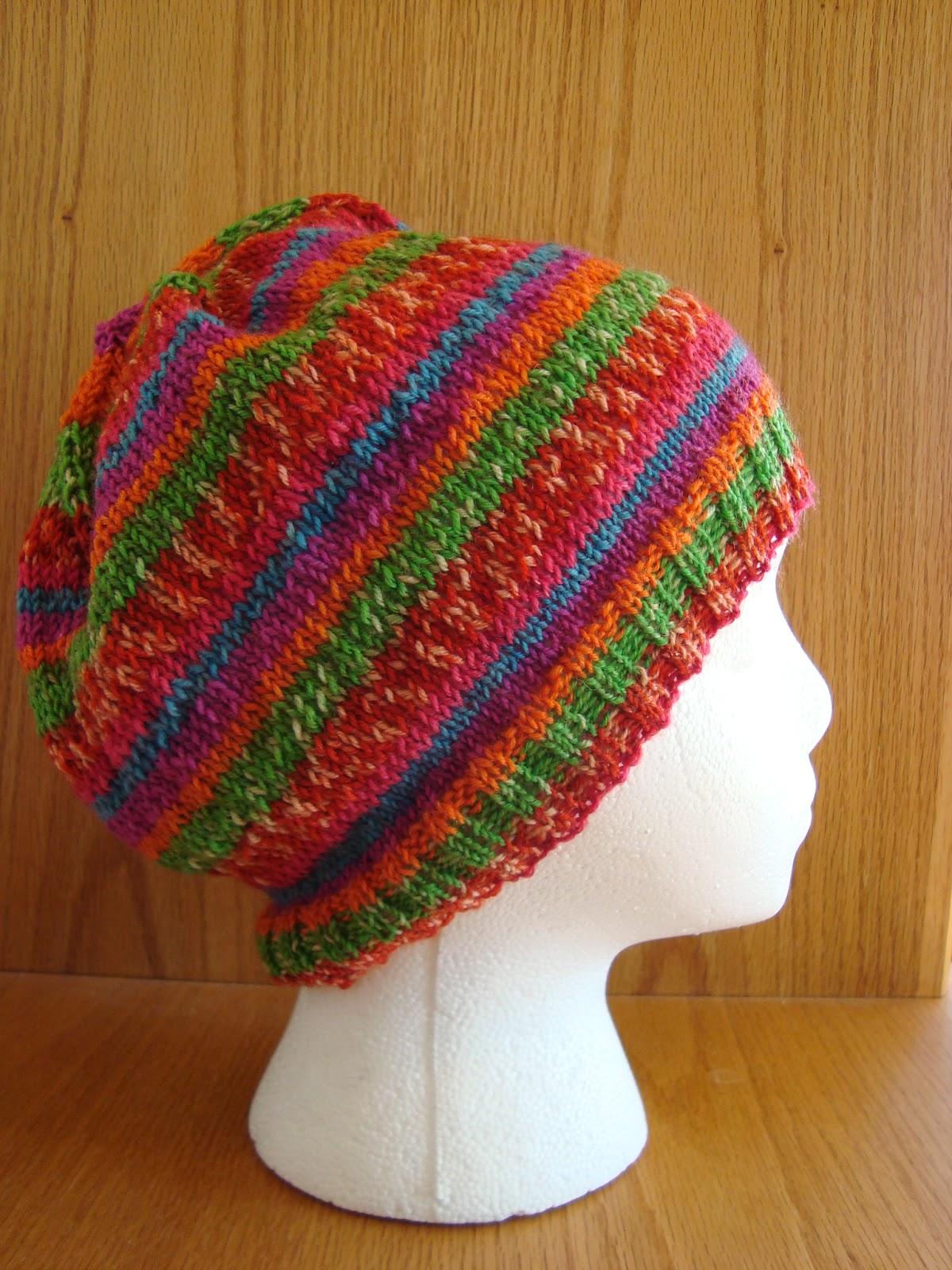 Work Sock Hat Knitting Pattern : Knice knitties justin sock yarn hat