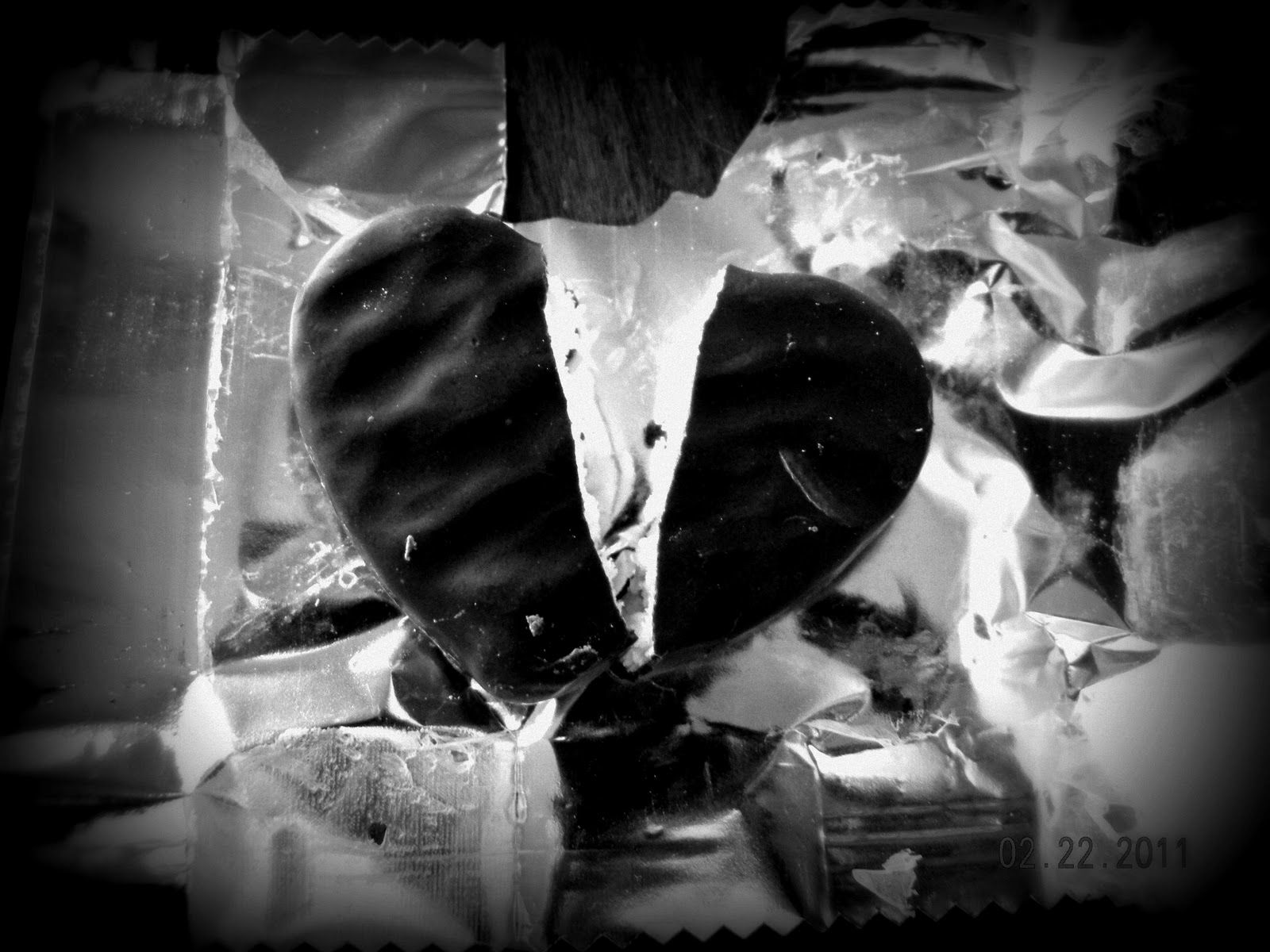 The Journey Of Life: Black and White Wednesday: Broken heart