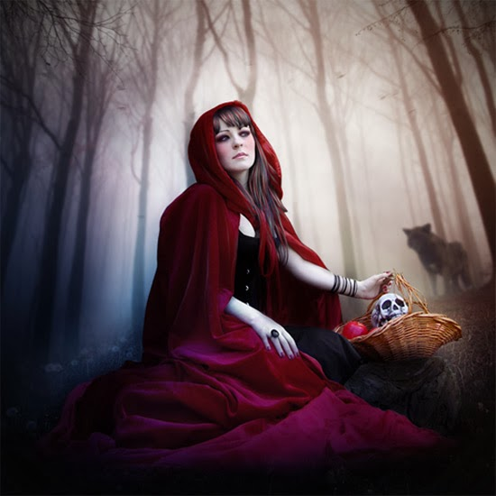Create a Red Riding Hood Artwork