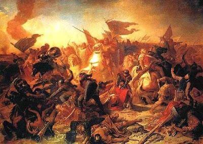 À testa de uma coalizão de povos cristãos, Otton vence a horda invasora