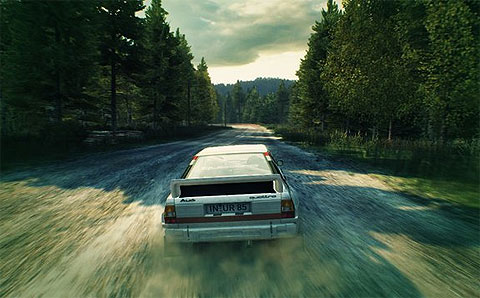 Dirt3 screen shot of a racing Audi Quattro, played at EuroGamer Expo 2012 with eye-gaze and Alt-controller.