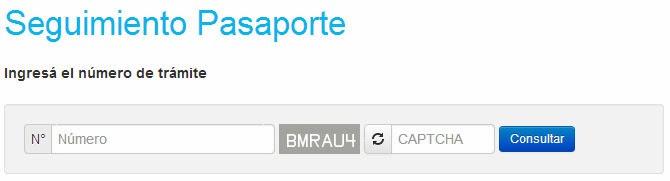 Seguimiento de Pasaporte