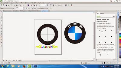 Membuat Garis Menggunakan Freehand Tool pada CorelDraw