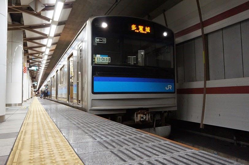 仙石線仙台駅に停車中の205系3100番台