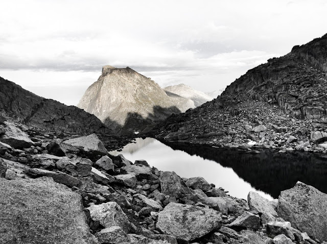 The Cirque of the Towers in the Wind River Range of Wyoming. Cirque Lake